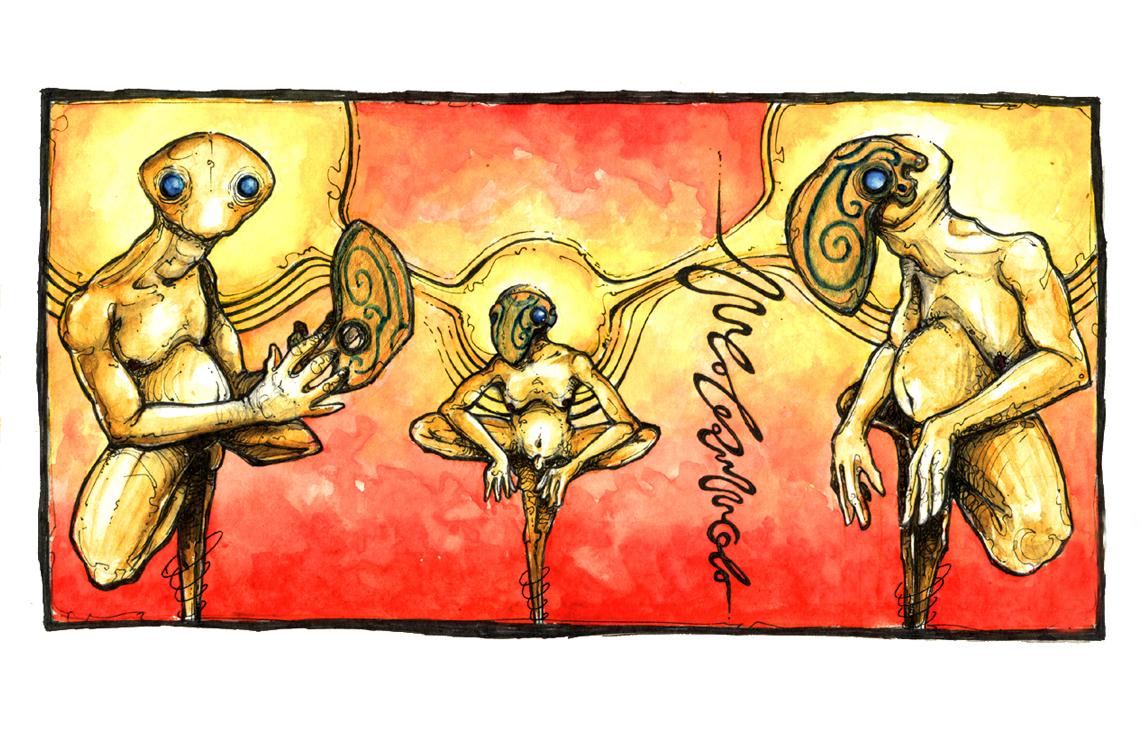 Les masques d'or